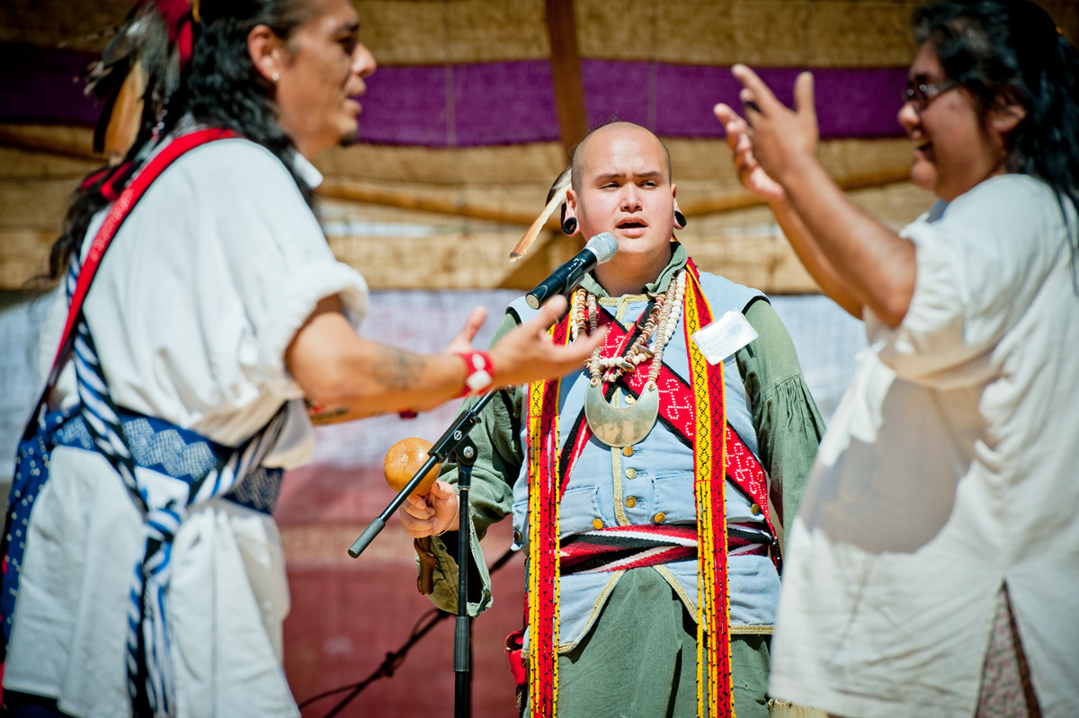cherokee people giving a presentation